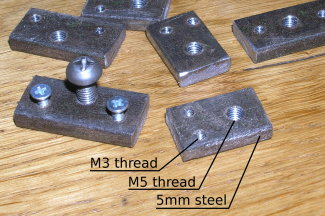 dual monitor - threaded steel plates